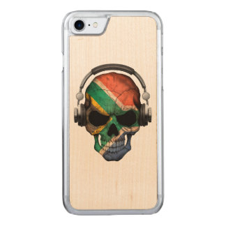 South African Dj Skull andHeadphones Carved iPhone 7 Case