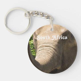 South African Elephant Single-Sided Round Acrylic Keychain
