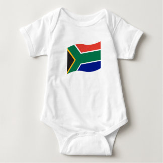 South African Flag Baby One Piece Baby Bodysuit