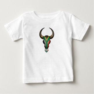 South African Flag Bull Skull Baby T-Shirt