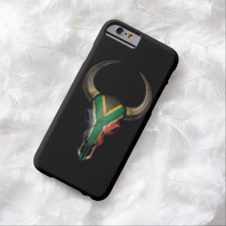 South African Flag Bull Skull Barely There iPhone 6 Case