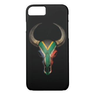 South African Flag Bull Skull iPhone 7 Case