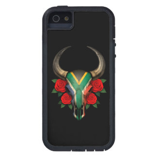 South African Flag Bull Skull with Red Roses iPhone 5 Cover