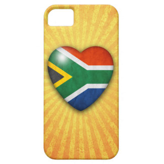 South African Flag Heart on sunburst background Barely There iPhone 5 Case