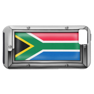 South African Flag in a Steel Frame Case For The iPhone 5