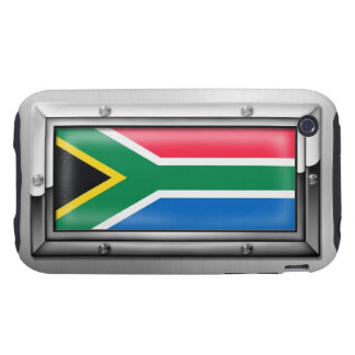 South African Flag in a Steel Frame iPhone 3 Tough Cover