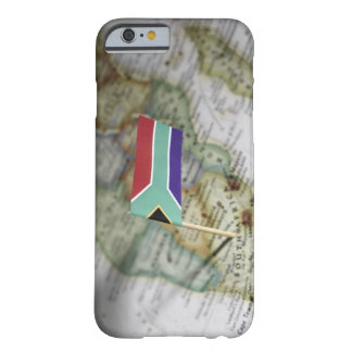 South African flag in map Barely There iPhone 6 Case