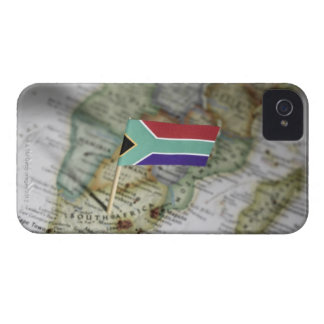 South African flag in map Case-Mate iPhone 4 Cases