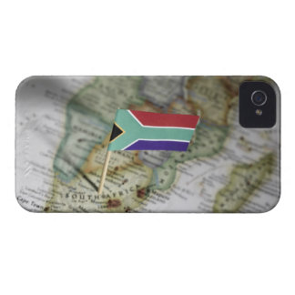 South African flag in map iPhone 4 Case-Mate Case
