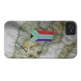 South African flag in map iPhone 4 Covers