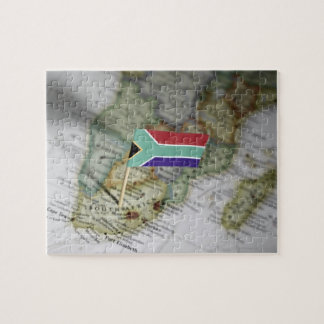 South African flag in map Puzzle