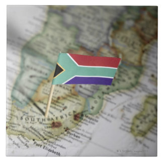South African flag in map Tile