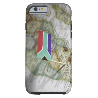 South African flag in map Tough iPhone 6 Case