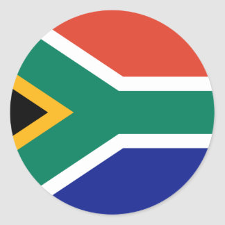 South African Flag Round Sticker
