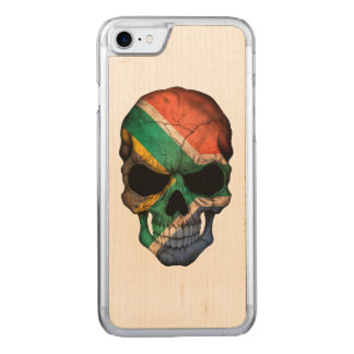 South African Flag Skull Carved iPhone 7 Case