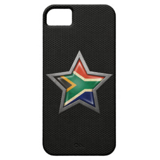 South African Flag Star with Steel Mesh Effect iPhone 5 Cases