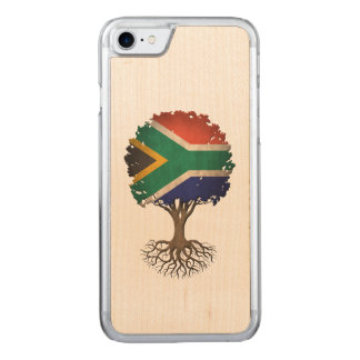 South African Flag Tree of Life Carved iPhone 7 Case