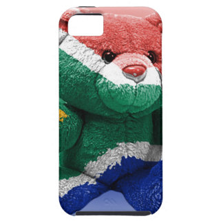 South African Flag wrapped Teddy Bear iPhone 5 Cover
