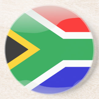 South African glossy flag Coaster