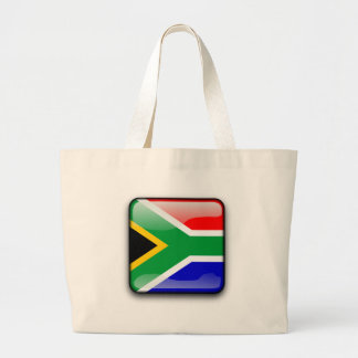 South African glossy flag Large Tote Bag