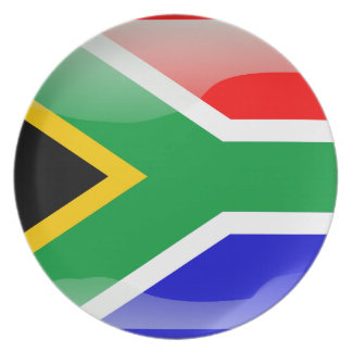 South African glossy flag Party Plate