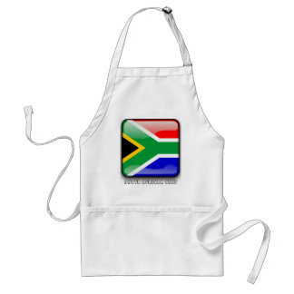 South African glossy flag Standard Apron