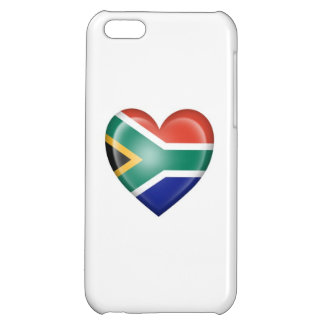 South African Heart Flag on White Case For iPhone 5C