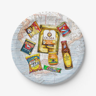 South African Iconic Food Brands Paper Plate