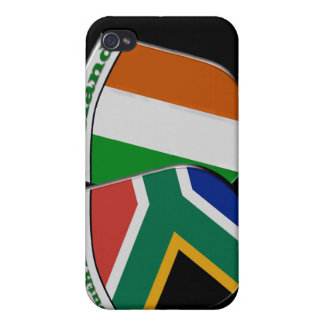 South African & Irish Flag Friendship Badges iPhone 4 Cases