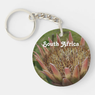 South African King Protea Acrylic Key Chain