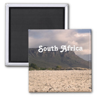 South African Landscape Square Magnet
