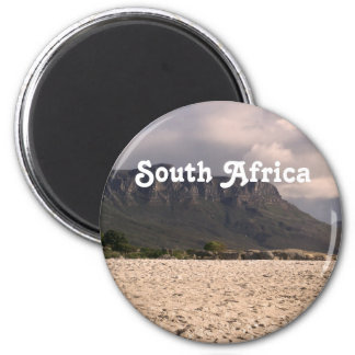South African Landscape 6 Cm Round Magnet