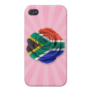 South African Rose Flag on Pink iPhone 4/4S Covers