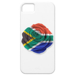 South African Rose Flag on White Case For The iPhone 5