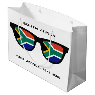 South African Shades custom text & color gift bag