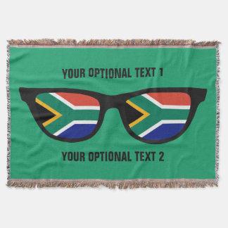 South African Shades custom throw blanket