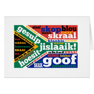 South African slang and colloquialisms Card