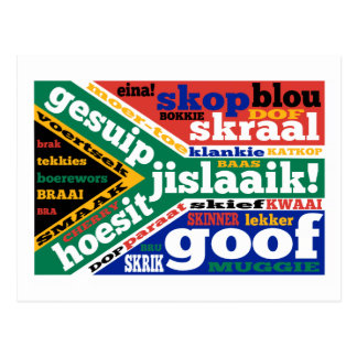 South African slang and colloquialisms Postcard