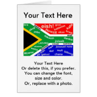 African birthday cards invitations zazzle south african slang greeting card customisable m4hsunfo Gallery