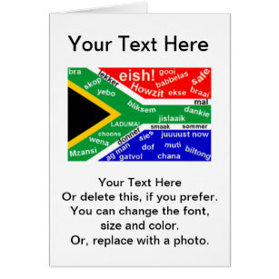 South african birthday cards invitations zazzle south african slang greeting card customizable m4hsunfo Gallery