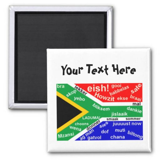 South African Slang Magnet Template