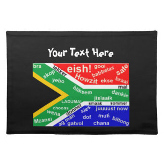 South African Slang Place Mats Template
