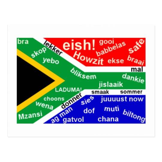 South African Slang Postcard - Customisable