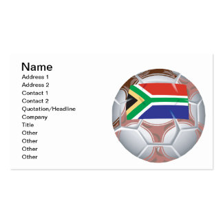 South African Soccer Ball Pack Of Standard Business Cards