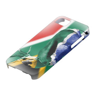 South African Springbock Flag iPhone5 cover Barely There iPhone 5 Case