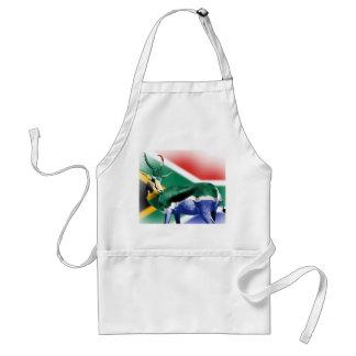 South African Springbock Flag Standard Apron