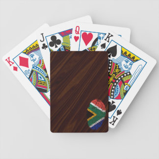 South African touch fingerprint flag Bicycle Playing Cards