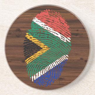 South African touch fingerprint flag Coaster