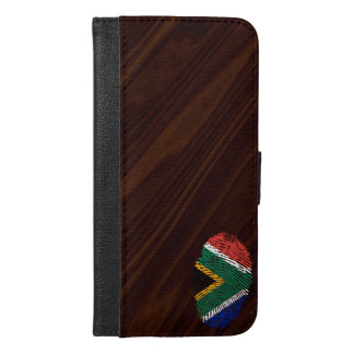 South African touch fingerprint flag iPhone 6/6s Plus Wallet Case