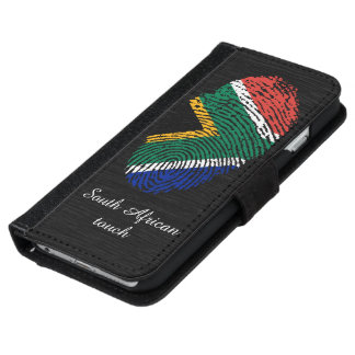South african touch fingerprint flag iPhone 6 wallet case